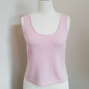 St. John Pink Knit Tank Top